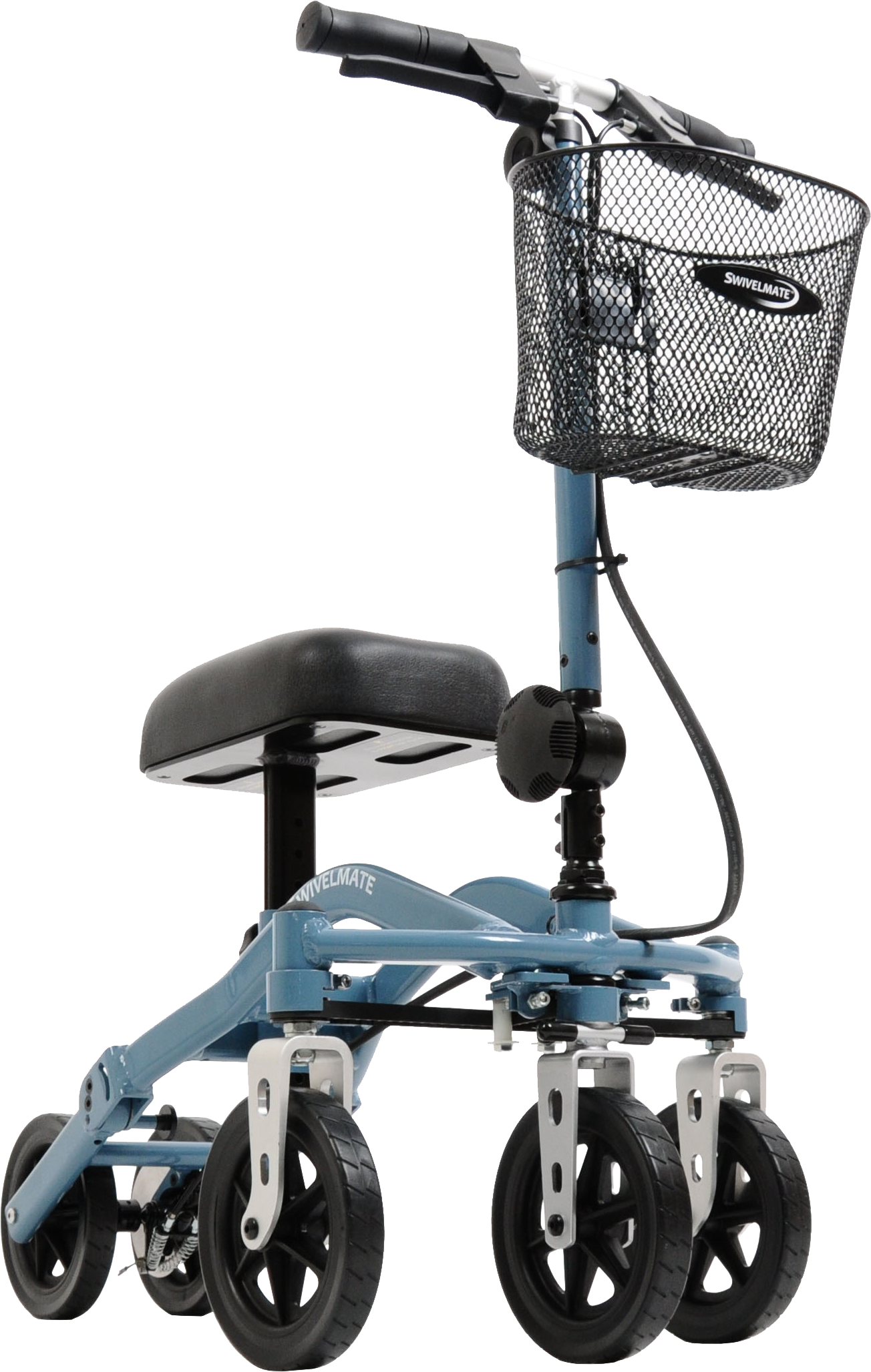 Dramatic photo of the Swivelmate Knee Walker